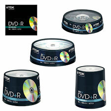 TDK DVD+R 4.7GB Branded 120Min Blank DVDR Recordable Disc 1 5 10 25 50 100