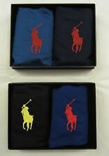 2 RALPH LAUREN POLO BLACK BLUE COTTON WOVEN BOXERS IN GIFT BOX - S M L XL $54