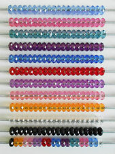 10 or 20 or 50 FACETED ACRYLIC SPACER CHARM BEADS FIT EUROPEAN BRACELET NO CORE