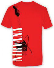 Nirvana Guitar t-shirt red  Men's