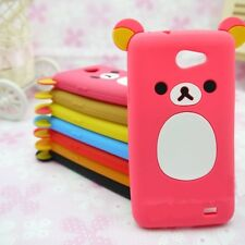 Cute Lovely Relax Teddy Bear Silicone Cover Case For Sony Xperia Mobile Phones