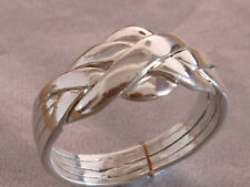 Ladies 925 Sterling Silver 4 Part  Puzzle Ring sizes