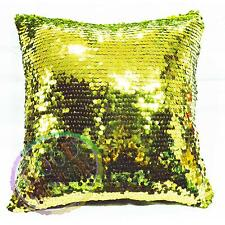 Gg608a Kiwi Shiny Sequins w/ Velvet Cushion Cover/Pillow Case*Custom Size*