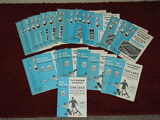 Tottenham Spurs home programmes 1967/8 to 69/70 Division 1 and cups
