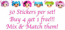 30 LALALOOPSY NAIL ART DECALS STICKERS / TRANSFERS PARTY FAVORS MIX AND MATCH