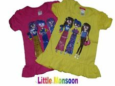Girls Next Pink Yellow Top T shirt AGE 4yrs 5yrs, 6yrs, 7yrs