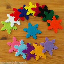5 - Felt Die Cuts - Snowflake - Christmas - Crafts - Topper - Applique - Cards