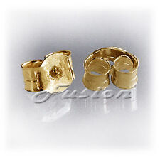 1 PAIR 9 CT YELLOW GOLD STUD EARRING STRONG BUTTERFLY BACKS SCROLLS