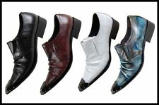 New Arrivals!! Men's Fashion Fiesso Metal Toe Pointed Slip on Shoes FI 6207