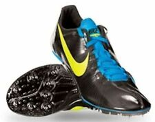 New Mens NIKE Zoom JA Fly Black Blue Volt Track Sprint Spikes Shoes 6.5 7 14 15