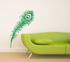 Peacock Feather Vinyl Wall Art / Graphic - Stickers Decals Vinyl Transfers