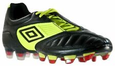 NEW Mens UMBRO Geometra Pro FG Black Sharp Green Soccer Cleats Football Boots
