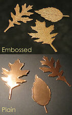 Copper Metal TATTERED LEAVES Die Cuts [Set of 3] Card Embellish Punk Altered Art