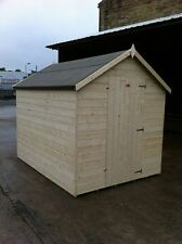 APEX GARDEN SHED-HEAVY DUTY 14MM TONGUE AND GROOVE WOODEN HUT/STORE