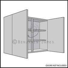 Kitchen Carcass Unit - Double Wall Cabinet 720mm High - 18mm Back - 100 Colours!