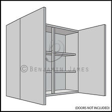 Kitchen Carcass Unit - Double Wall Cabinet 900mm High - 18mm Back - 100 Colours!