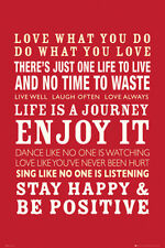 Life Quotes Framed Poster 24x36, POSTERSESRVICE 33817