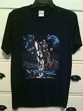 INDIAN WARRIOR NATIVE AMERICAN T-SHIRT BLACK SIZE S M L XL