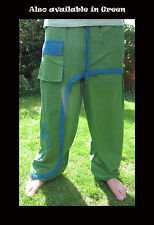 Spiral Hippy Psytrance Festival Trousers Fairtrade Boho Ninja Yoga Forest Wear