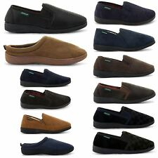 NEW MENS DUNLOP FLAT COMFORTABLE SLIP ON  MULES WINTER SLIPPERS SIZES UK 7-11