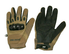 ASG TACTICAL COMBAT GLOVES COYOTE REINFORCED STRIKE SYSTEMS