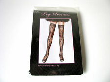 Leg Avenue Sexy Bow Design Lace Thigh Highs Black or Red Hold Ups Lace Top