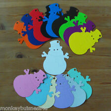Christmas Die Cuts/Tags - Snowman - Kids - Invitations - Deco - Topper - Gifts