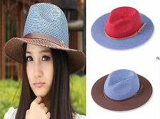 2014 Fashion Unisex Panama Cap Summer Beach Sun Straw Cap Hat