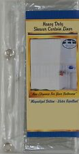 "VINYL SHOWER CURTAIN LINER WITH MAGNETIC BOTTOM 72"" X 72"" - WATER REPELLANT!!!!"