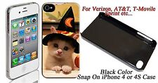 Halloween cat iphone4 / 4s Snap On Case Cuty Image #ip4-135