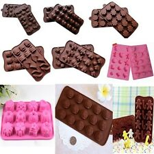 Chocolate Cake Cookie Muffin Jelly Baking Silicone Bakeware Mould Mold j