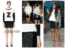 Zara Embroidered Leather Skirt Size S/10UK/6USA/10AUS/38EU
