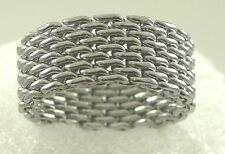Chain Link Cable Mesh Band Ring Stainless Steel 10mm Designer Style Size 5-12