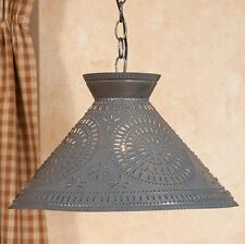Irvin's Roosevelt Chisel Design Shade Light - Primitive Country Lighting - New!
