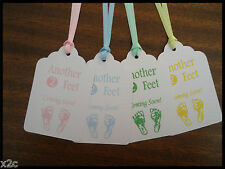10 Kraft White Gift Swing Tags Bomboniere Favour Baby Shower Party Cards