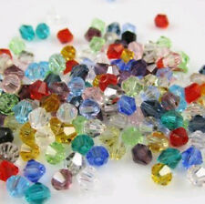 Free shipping 100pcs 4mm Loose Glass Crystal #5301 Bicone beads U pick colors