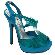 Womens Designer Evening Sandals Ladies Pink Turquoise Prom Platform Shoes UK 3-8