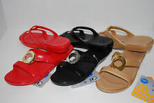 NEW NWT CROCS SANRAH PATENT LEATHER sandals shoes 6 7 8 9 10 RED BLACK GOLD