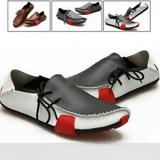 Mens Summer Soft Casual Leather Loafers Slip On Moccasin Driving Shoes 3 Colors