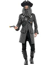 ADULT MENS TERROR OF THE SEA DLX PIRATE COSTUME HALLOWEEN FANCY DRESS - 2 SIZES