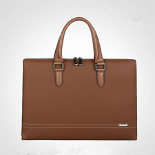 New Men Real Leather Breif Laptop Breifcase Messenger Business Shoulder Bag