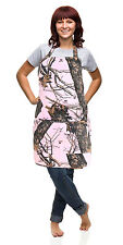 Realtree Pink Camo Apron Women S-2X Pink Realtree Lightweight Stain Resist Apron