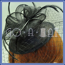 Sinamay Women Ladies Wedding Veil Beret Cocktail Hat Fascinators MULTI COLORS G2