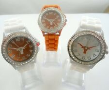 Texas Longhorns, Rhinestones Silicone Band Watch, Officially Licensed Product
