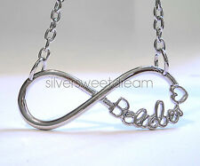 JUSTIN BIEBER Necklace BELIEBER Pendant STEEL Fans Infinity Exclusive Design