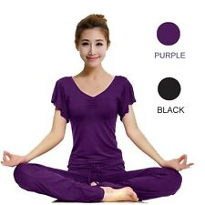 GENUINE 95% Bamboo Fabric Sports Clothes Soft Comfortable Yoga Wear (2 Pieces)