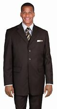 Men's basic suit polyester 3 button suit  By Milano Moda 802
