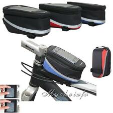 Cycling Bicycle Bike Frame Pannier Front Tube Bag Pouch For Cell Phone Holder