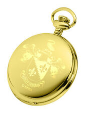 Engraved Coat of Arms (Family Crest) Pocket Watch