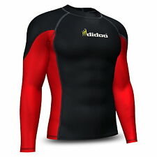 Mens compression shirt Base layer top full Sleeve Long tight thermal wear didoo